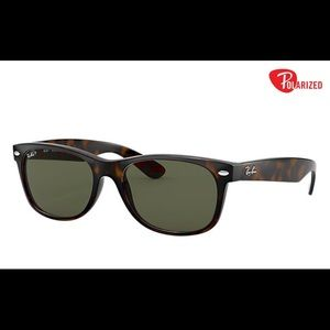 Ray Ban New Wayfarer Tortoise polarized Sunglasses